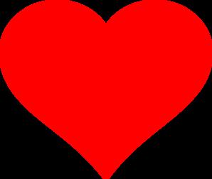 Red Heart Flat Clip Art Heart Printable Printable Heart Template Clip Art