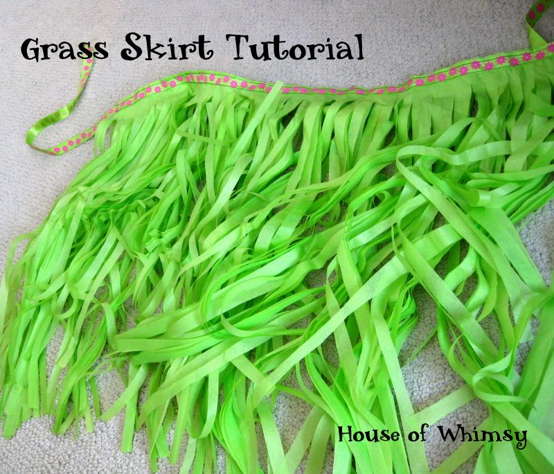 Grass Skirt Tutorial For A Luau Party Using A Package Of