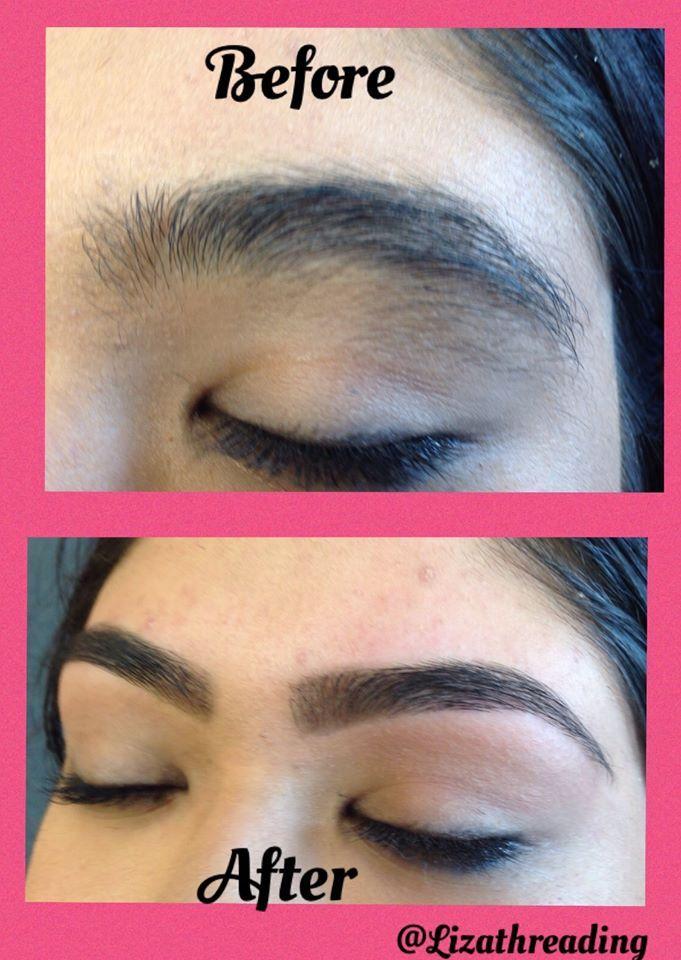 Eyebrow Threading Before And After Eyebrow Threading In Oxnard