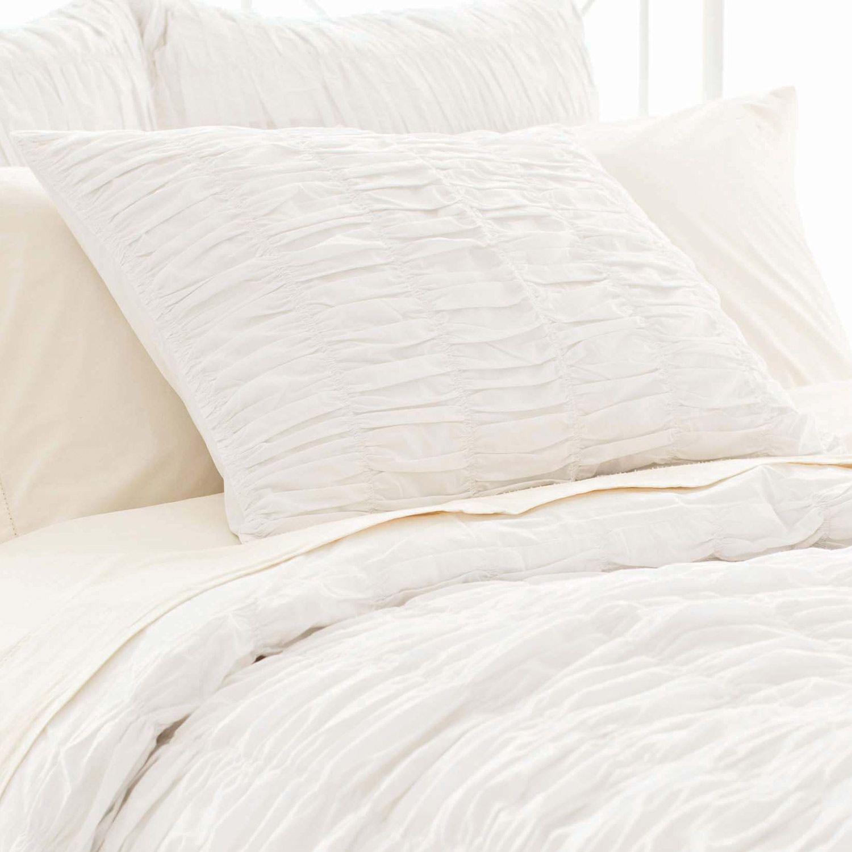 Pine cone hill smocked white pillow sham sarah chintomby nasafi