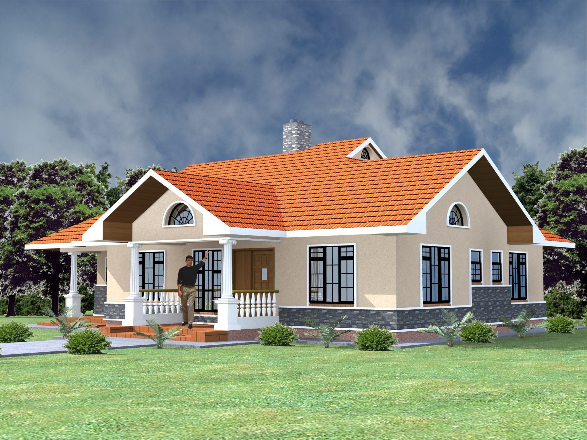 Three Bedroom Bungalow House Plans In Kenya Hpd Consult Bungalow House Plans Unique House Plans Beautiful House Plans