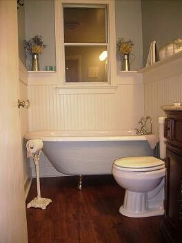 Small bathroom clawfoot tub bathroom ideas pinterest small bathroom tubs and house for Small clawfoot tubs for small bathrooms