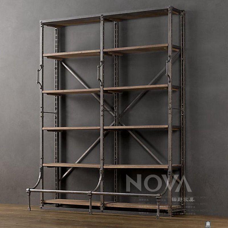 Armadio In Ferro Ikea.Americano Annata Ferro Libreria In Legno Combinazione Libera Ikea