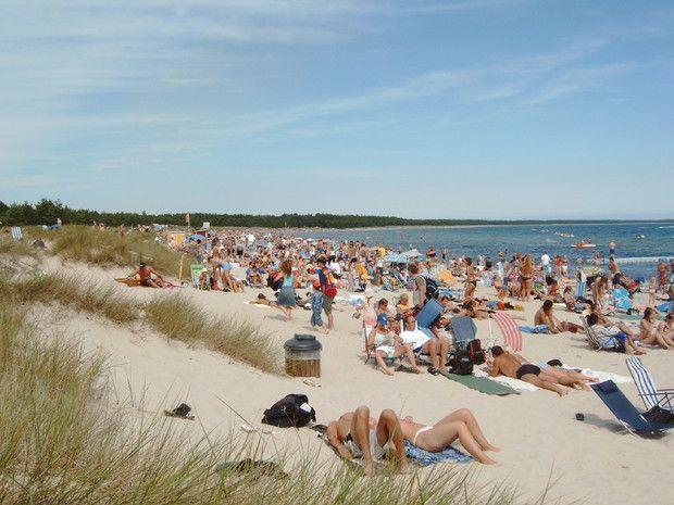 Boda Beach In Southern Sweden