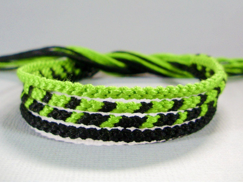 Lime Pink /& Orange Thin Friendship Bracelet