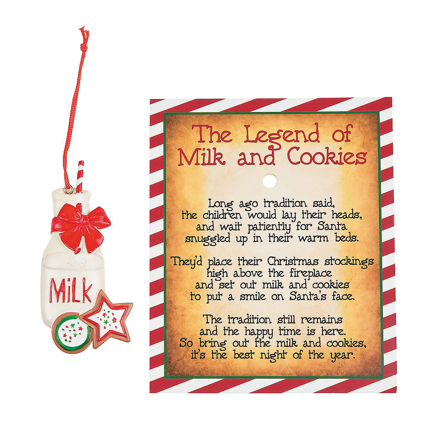 Legend Of The Christmas Tree Poem: Legend Of The Milk & Cookies Ornaments, Ornaments, Party