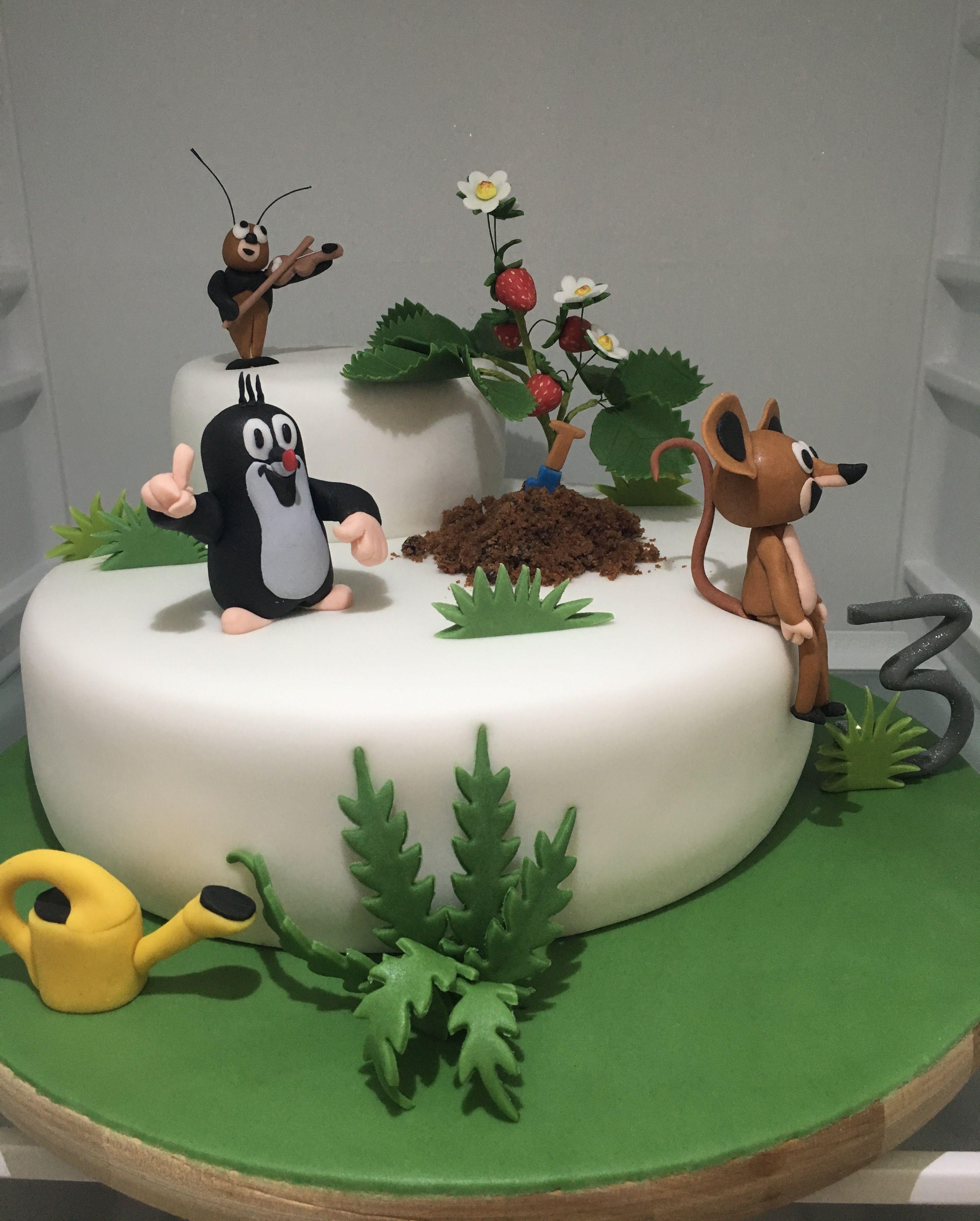 Children Little Mole Cake Dort Krtecek Cake Kids Cake Cake Decorating