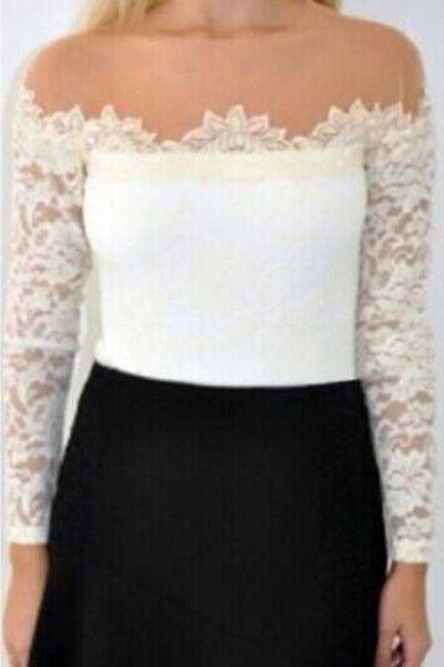 Prix: €9.51 Clubwear Tops Blanc Manches Longues En Dentelle Top Avec Beige Mesh Insert Modebuy.com @Modebuy #Modebuy #Blanc #me #sexy #soldes #commentteam #modebuycom #Bleu #commentalways #TagsForLikesApp #love #commentback #comment #paschere #Acheter