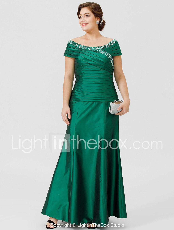 83696bda14af Γραμμή Α Σχήμα U Μέχρι τον αστράγαλο Ταφτάς Φόρεμα Μητέρας της Νύφης με Χάντρες  Πιασίματα Χιαστί