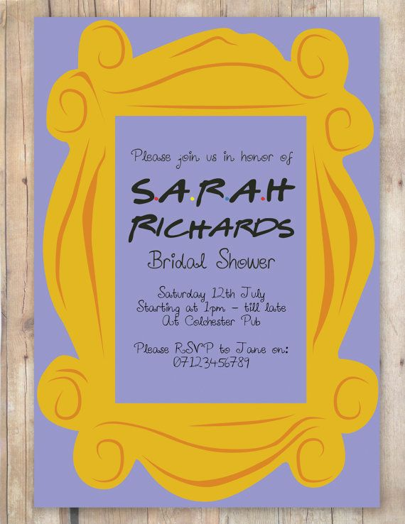 bridal party invitation friends themed by flurgdesigns on etsy