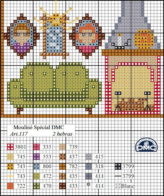 El blog de Dmc: Diagrama casa de punto de cruz: la buhardilla ...