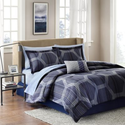 Madison Park Rincon 7Piece Twin Comforter Set Rincon Comforter