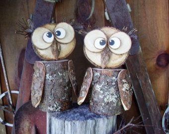 Owls Made Out Of Wood Items Similar To Rustic Wood Owl