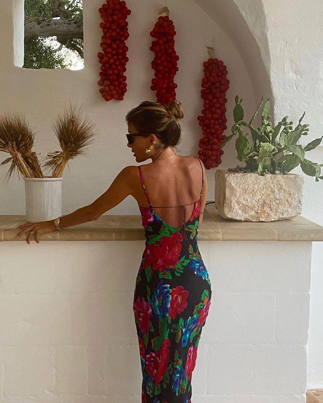 Valentina @valentina_muntoni wearing our 'Casablanca' dress in Puglia 🥀 Available online now #ratandboa