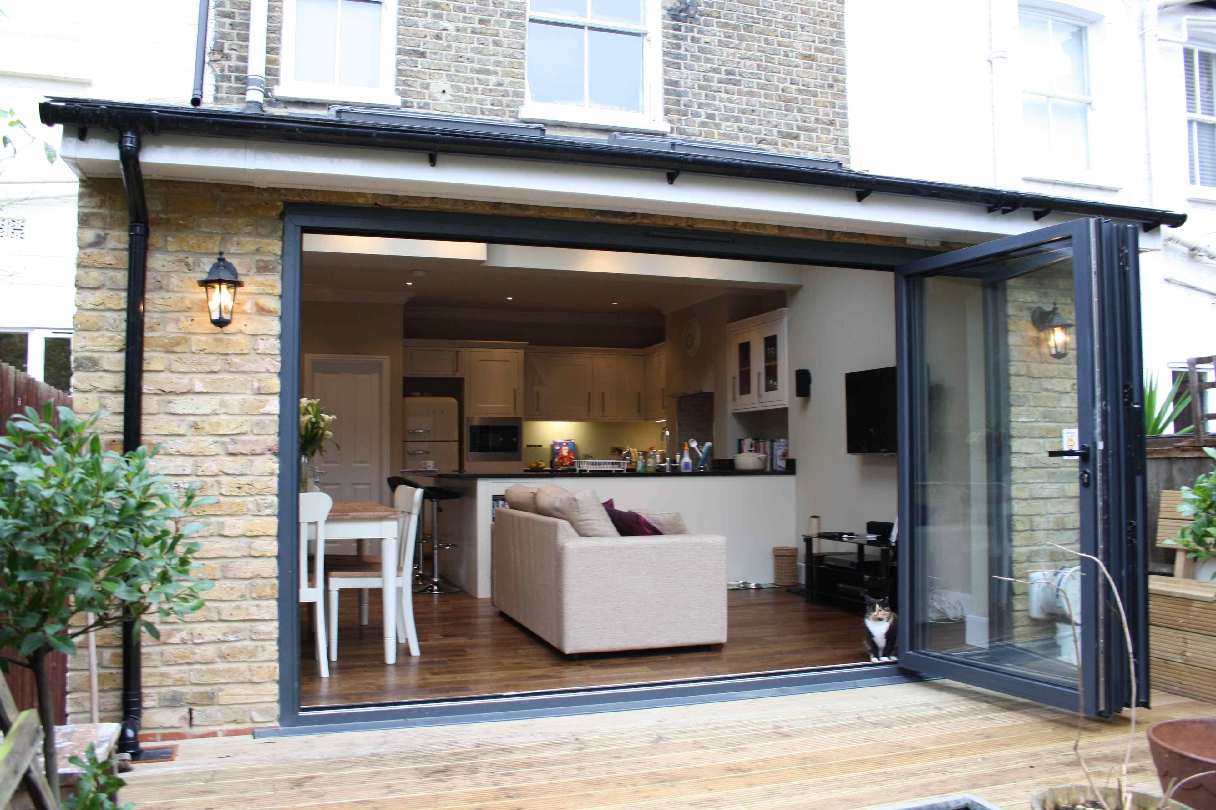 small rear extension kitchen - Google Search | Open plan ...