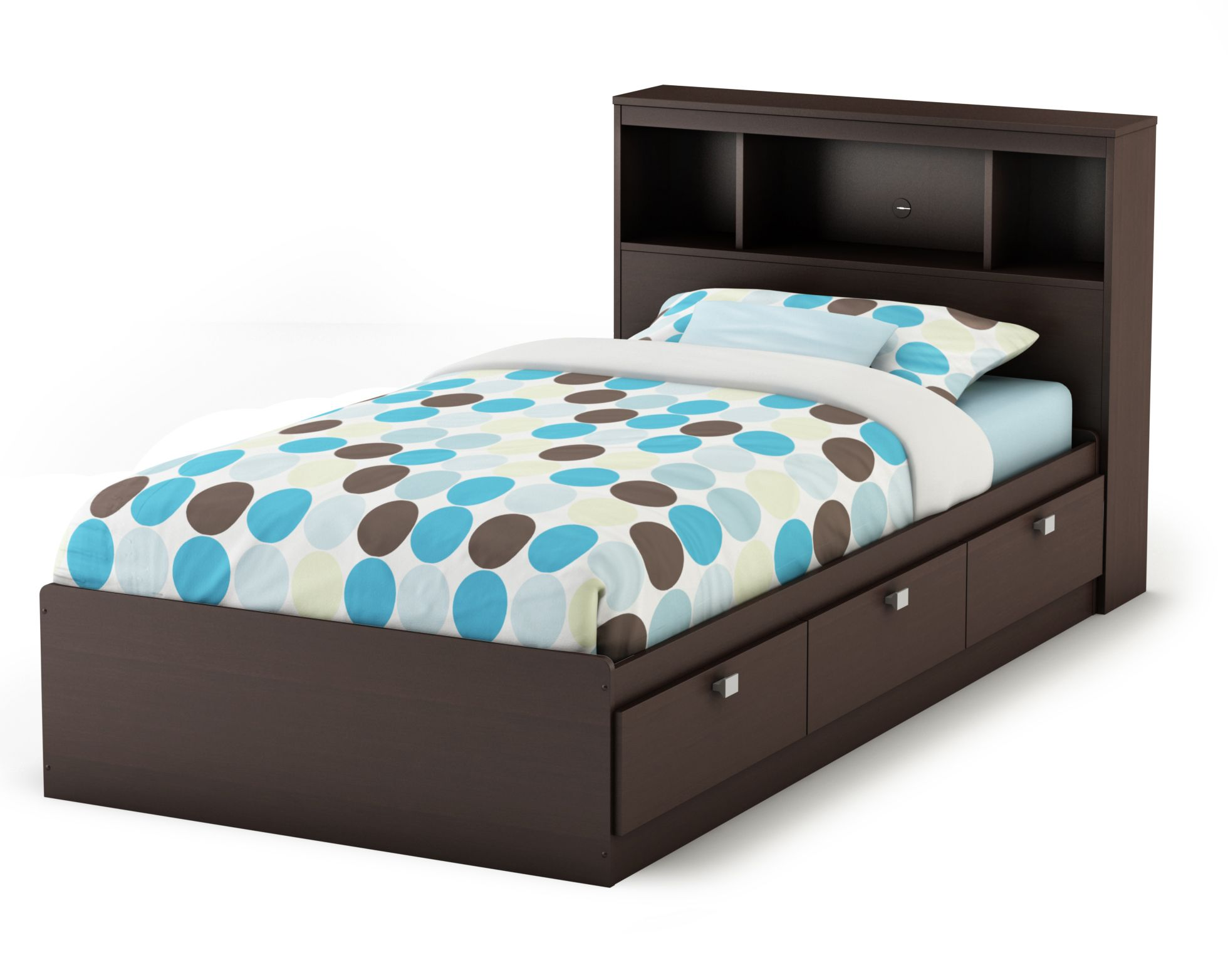 Twin bed with storage and headboard - Bedroom Stunning Espresso Twin Size Bed Frame With Headboard And Storage Inside Also Have Three