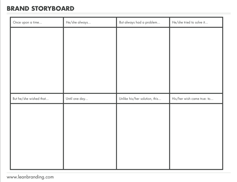 the designer s guide to building a brand story storyboard