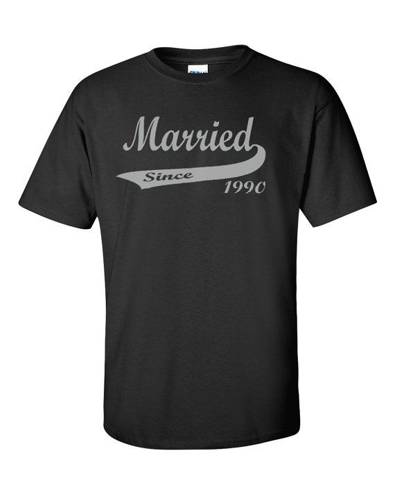 66cbf02d 25th Silver Anniversary T-Shirt Married Since by UpShirtsCreek | I ...