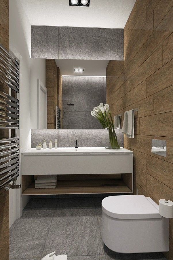 Beautiful bathroom remodel with floating vanity and wall - Bathroom wall decorating ideas small bathrooms ...