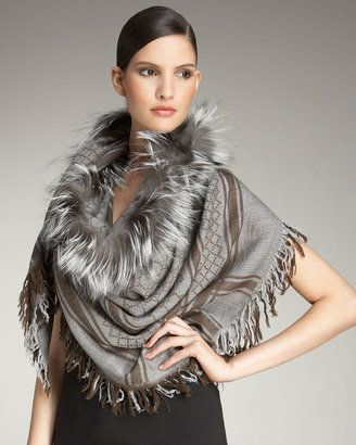 25ba2ad9dc1 Gucci Fur Trimmed Scarf  Yes please! At Gucci