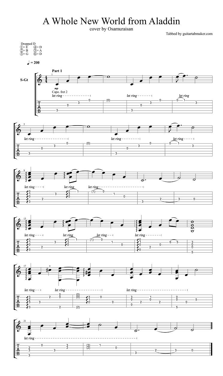 a whole new world fingerstyle guitar tab pdf guitar sheet music guitar pro tab download. Black Bedroom Furniture Sets. Home Design Ideas