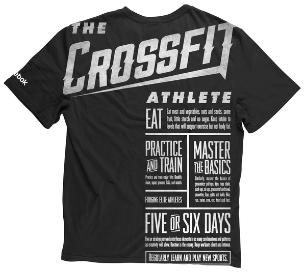 fe14e0bf Love the unique imprinting on this t-shirt! Crossfit by Russell Pritchard,  via Behance