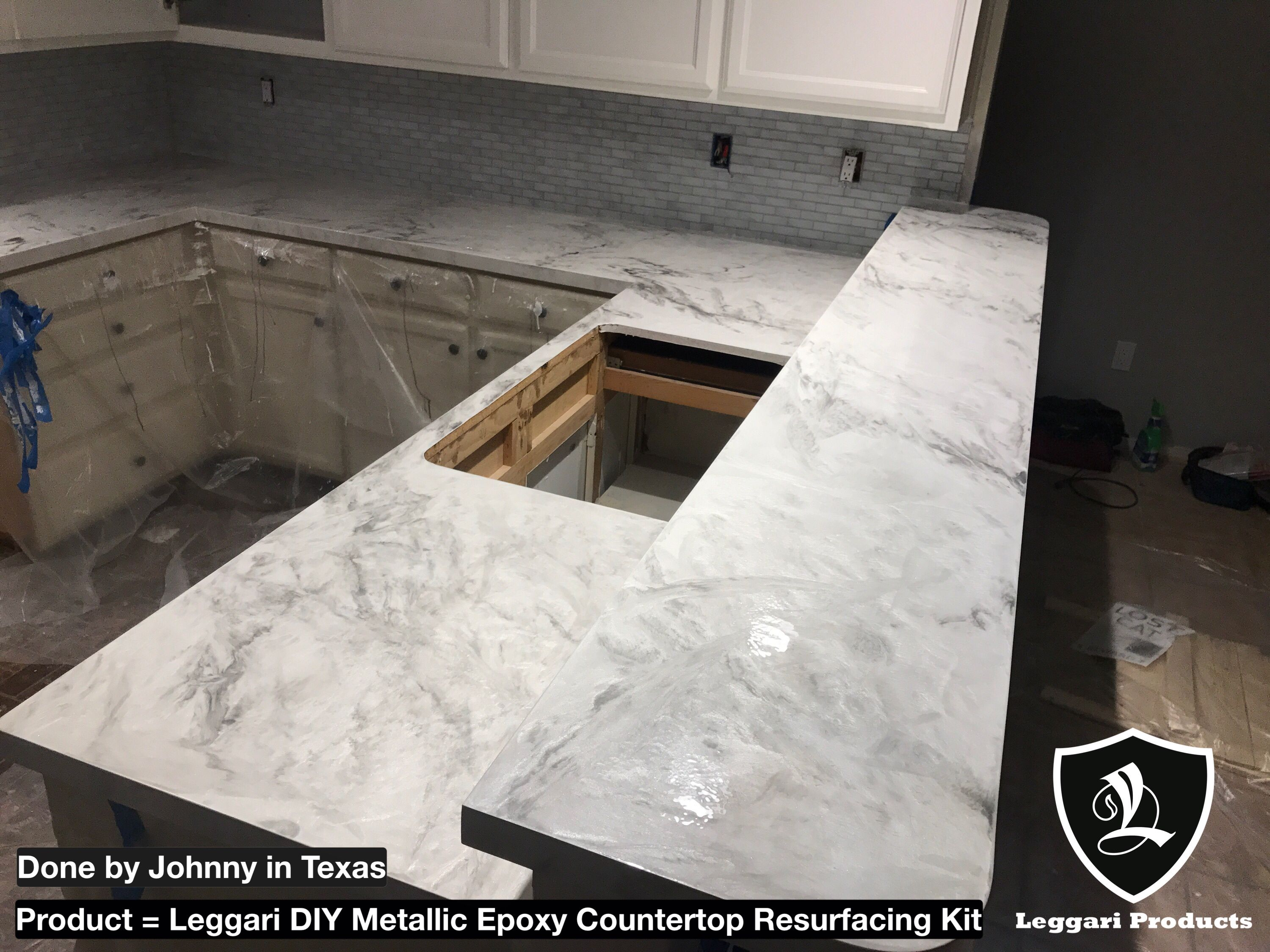 Diy White Marble Countertop Kits Right Over Your Existing Countertops Only 1 Day Install 17 Metallic Co Countertop Kit Countertops Epoxy Countertop Kit