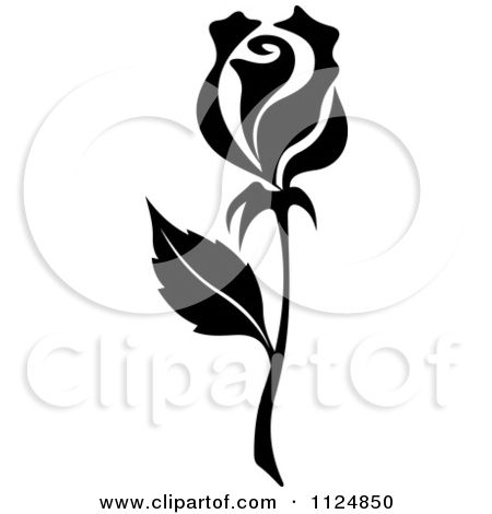 Black and white rose graphic clipart of a black and white rose black and white rose graphic clipart of a black and white rose flower 12 royalty free vector mightylinksfo