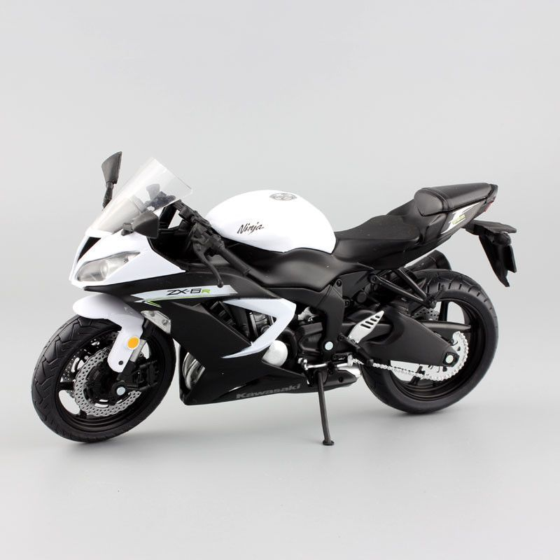 Image result for Kawasaki Ninja ZX-6R Sport bike metal Motorcycle diecast sport road racing model