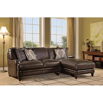Winhall Top Grain Leather Chaise Sectional 2599 Sectional Sofa