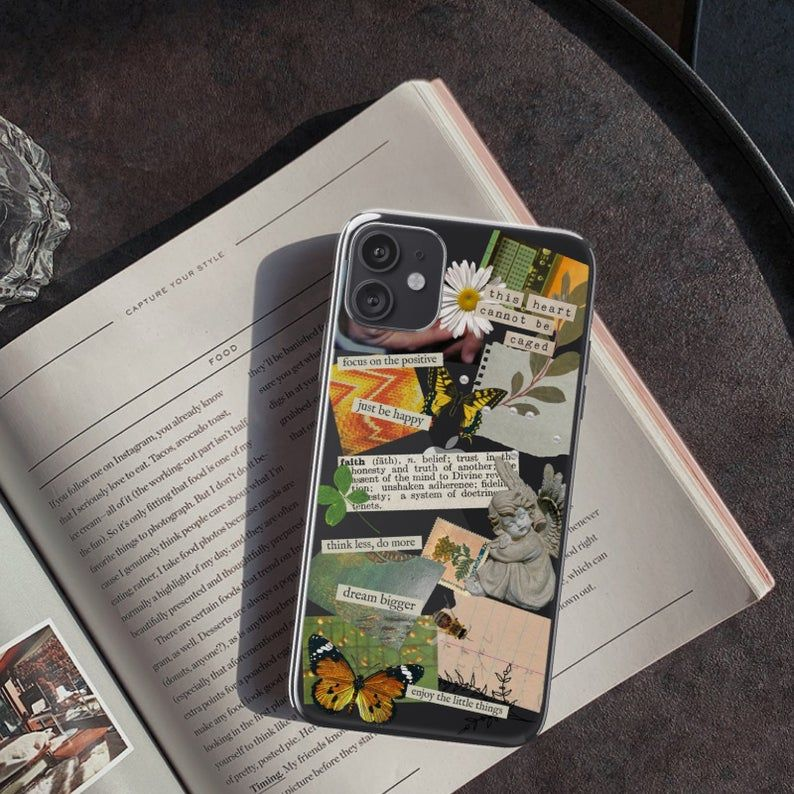 Aesthetic collage clear phone case for iphone 11 pro max