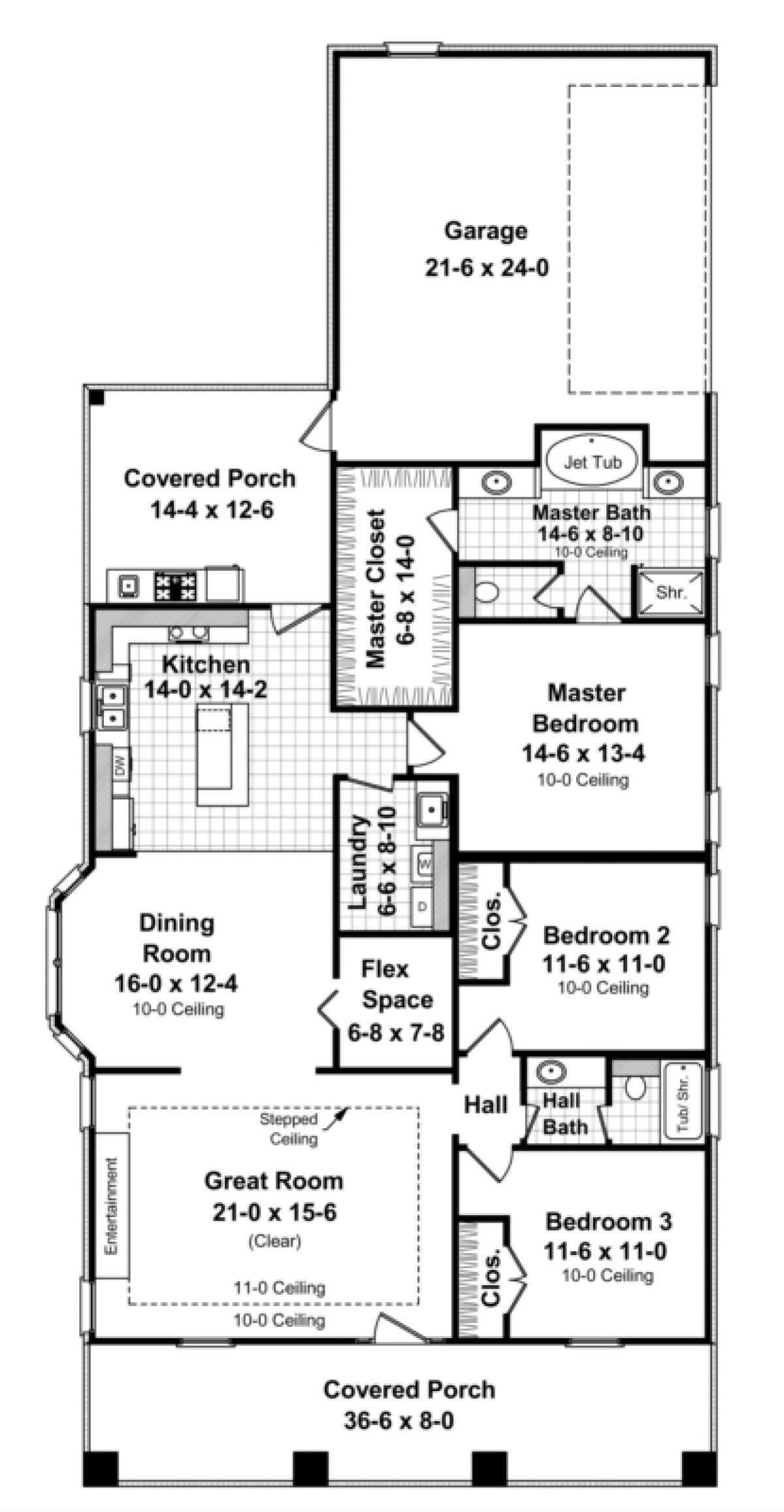 House Plan 348 00064 Cottage Plan 1 800 Square Feet 3
