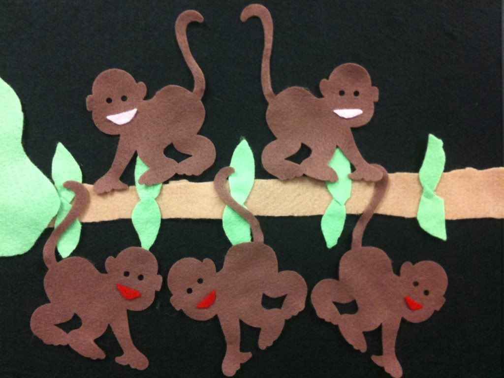 5 Little Monkeys Swinging In A Tree