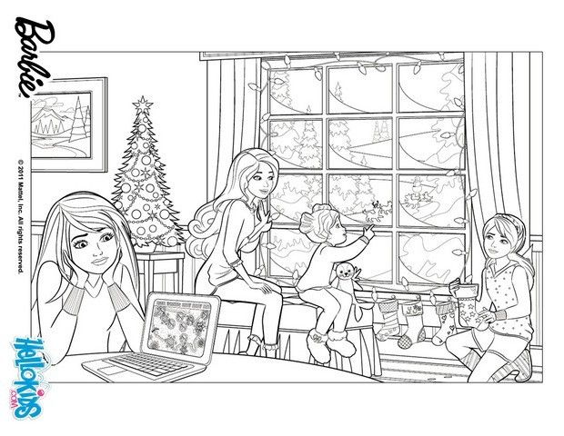 BARBIE in a PERFECT CHRISTMAS coloring pages  BARBIEs Christmas