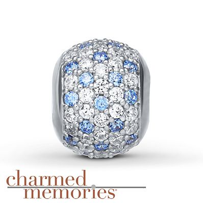 fc440ecac Charmed Memories Blue Cubic Zirconia Charm Sterling Silver ...
