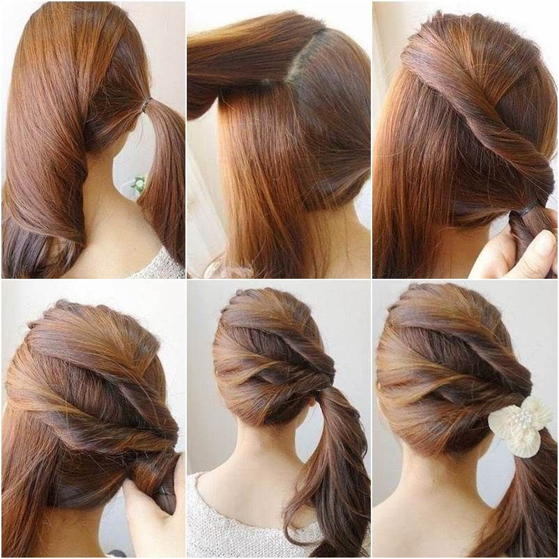 diy easy twisted side ponytail hairstyle | goodhomediy follow