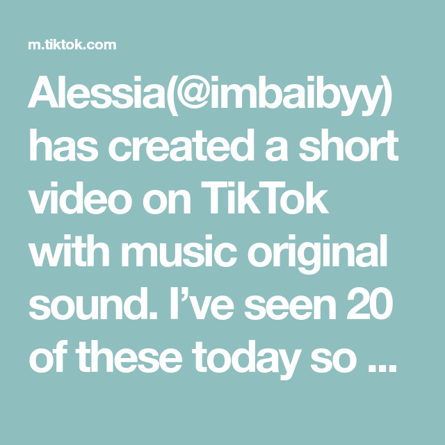 Alessia Imbaibyy Has Created A Short Video On Tiktok With Music Original Sound I Ve Seen 20 Of These Today So Uh Here Elevator Music The Originals Music