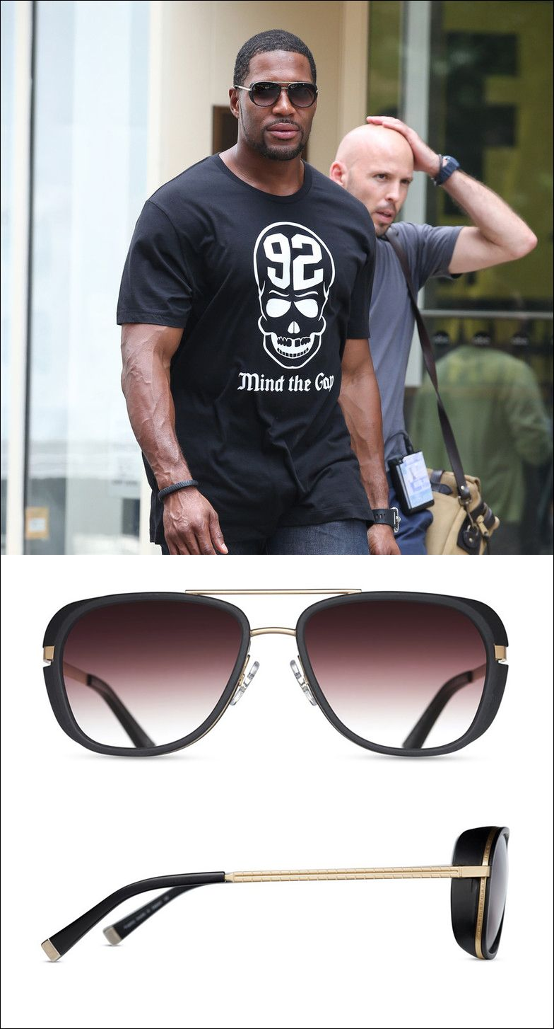 9744bad66c Former defensive end for the New York Giants - Michael Strahan wearing the  Matsuda Sunglasses