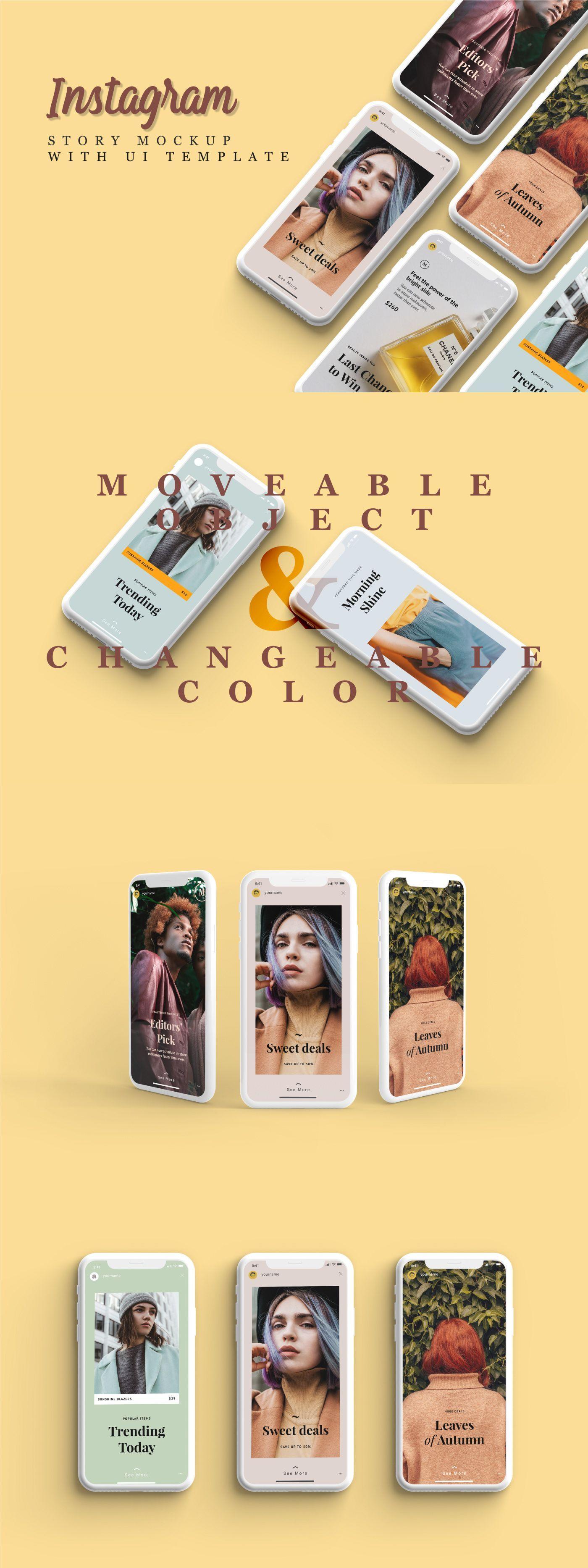 Free Instagram Story Mockup Iphone X On Behance Webdesigniphonex Web Design Websites Web Design Tips Free Instagram