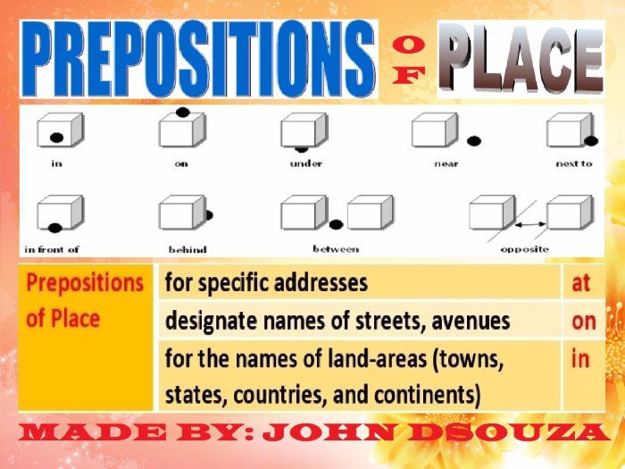 Prepositions Of Place Lesson And Resources My Tes Resources