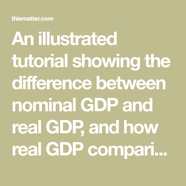 the difference between nominal gdp and real gdp is