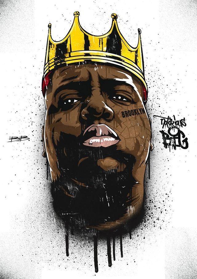 Biggie Smalls Art Quote B.I.G Hip Hop Life Rap King Poster Print Frame