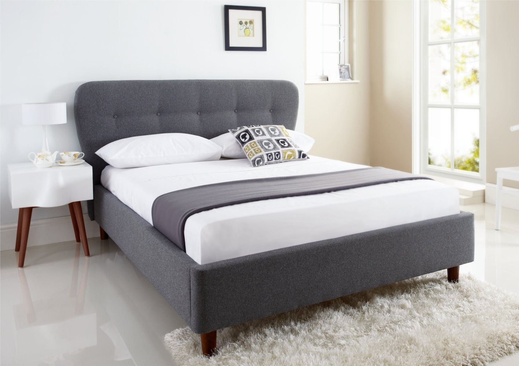 Oslo Upholstered Bed Frame - Upholstered Beds - Beds | bedroom ...