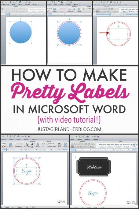 Video How to Make Pretty Labels in Microsoft Word Pinterest