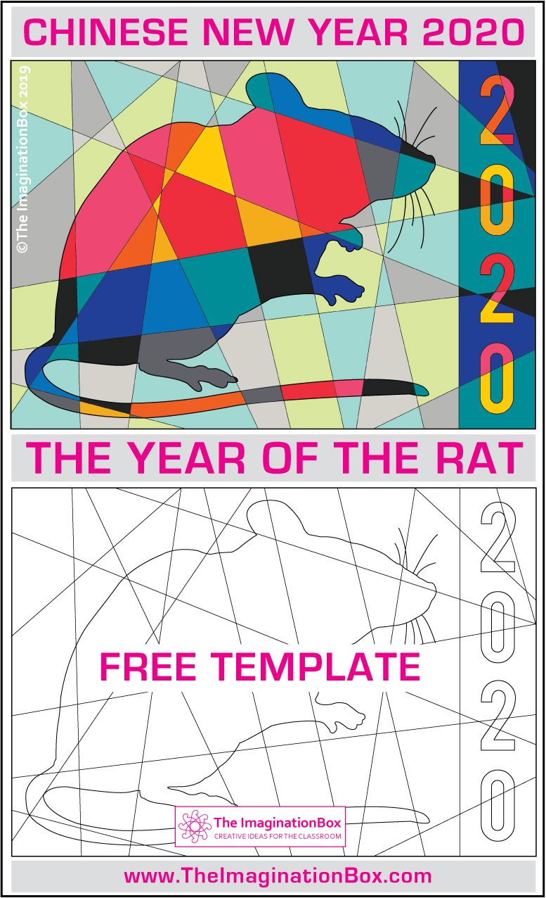 Year of the Rat Free Coloring Pages for Kids