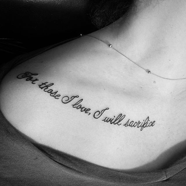 Tattoo Designs Love Quotes: 60 Collarbone Quote Tattoos That Are As Meaningful As They