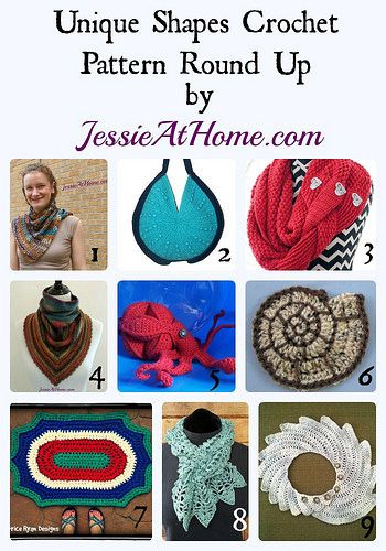 Unique Shapes Crochet Pattern Round Up from Jessie At Home