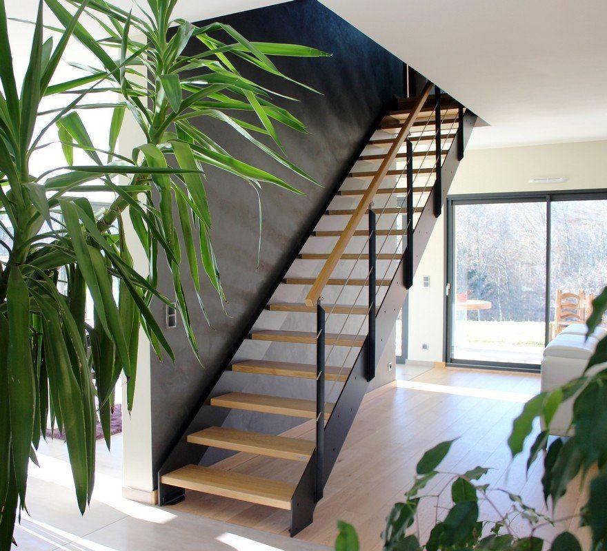 escalier contemporain loft avec marches