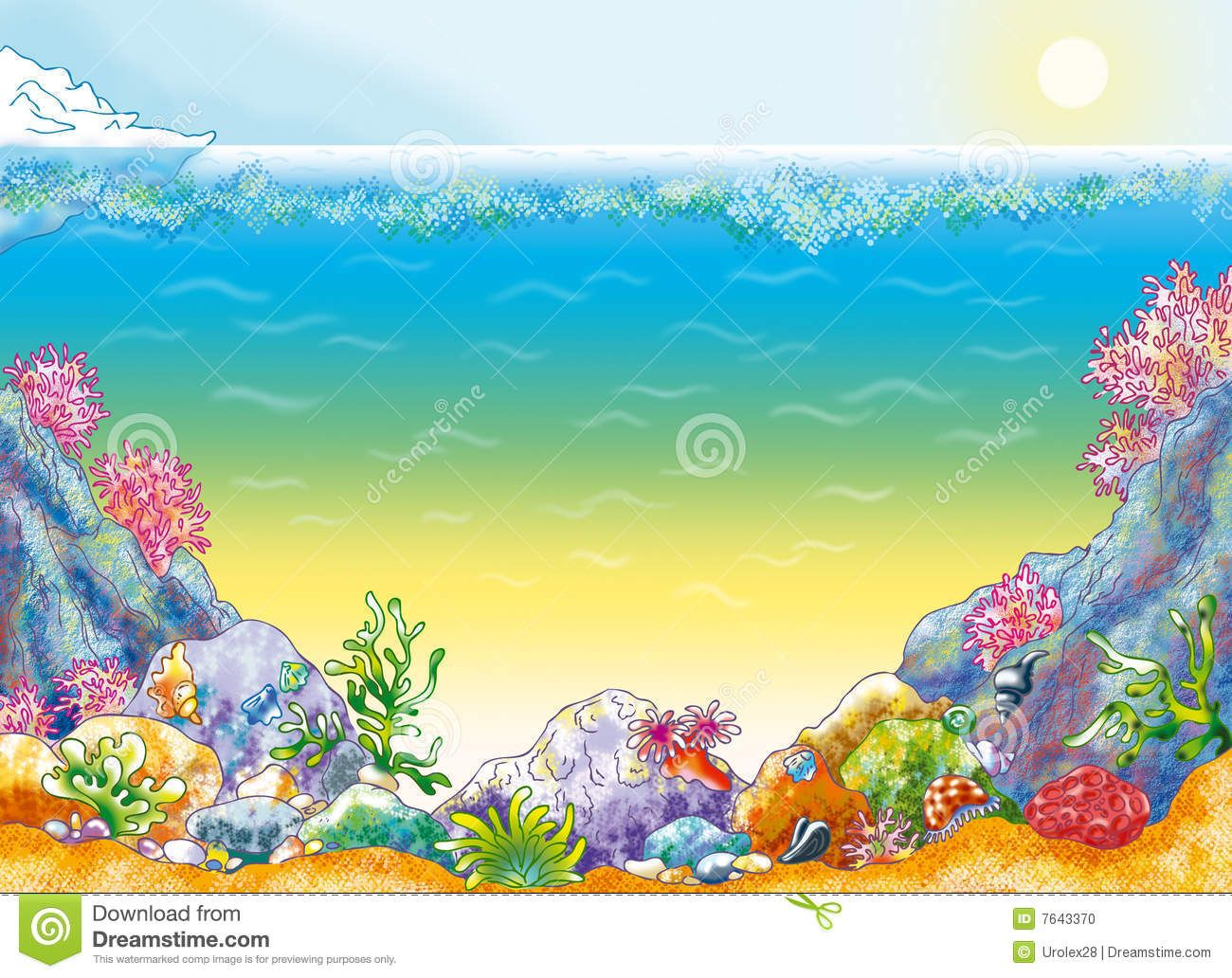 Ocean Floor Clip Art | Ocean Floor Clipart Ocean background with ...