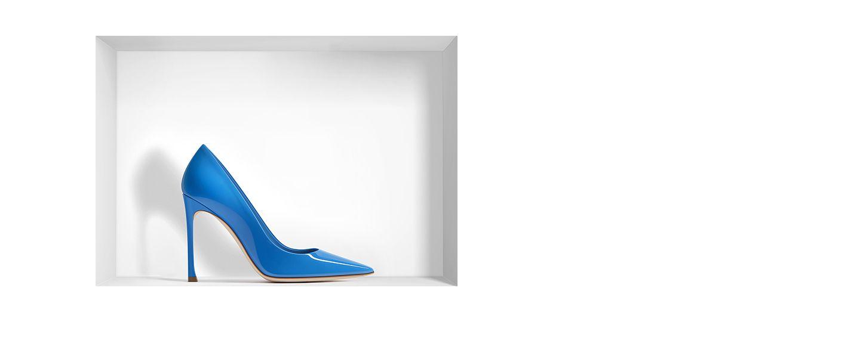 Blue patent calfskin pump, 10 cm - Dior